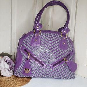 Sharif 1827 Purple Grey Dome Bag
